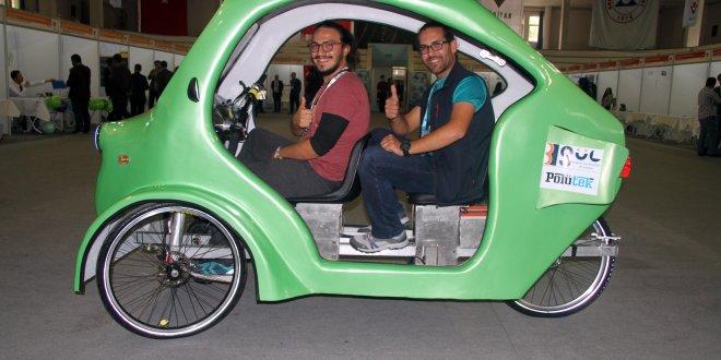 Üniversite öğrencilerinden hibrit, kaportalı bisiklet