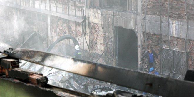 Bolu'da fabrika yangını
