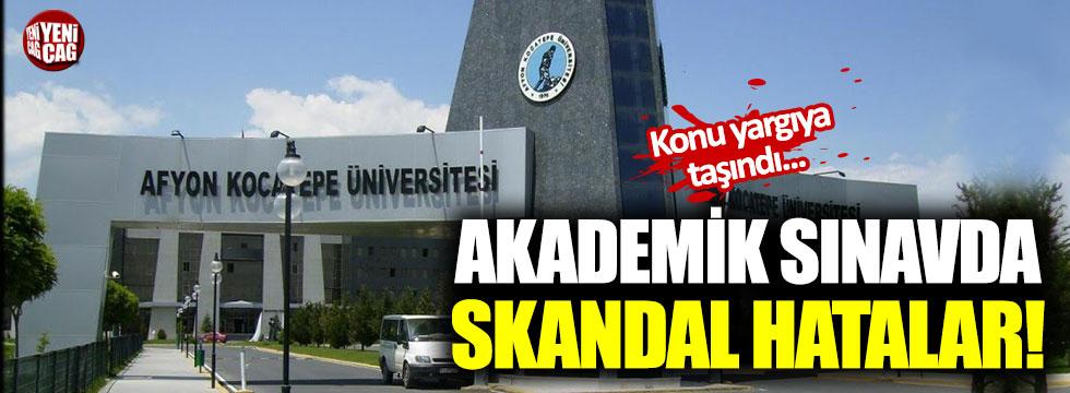 Akademik sınavda skandal hata!