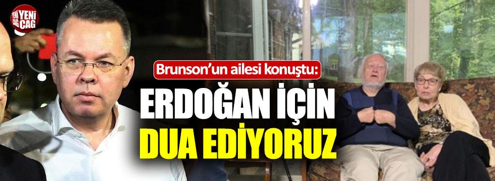 Brunson'un anne ve babasından Erdoğan'a teşekkür