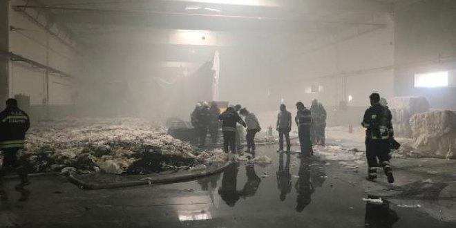Gaziantep'te fabrika yandı