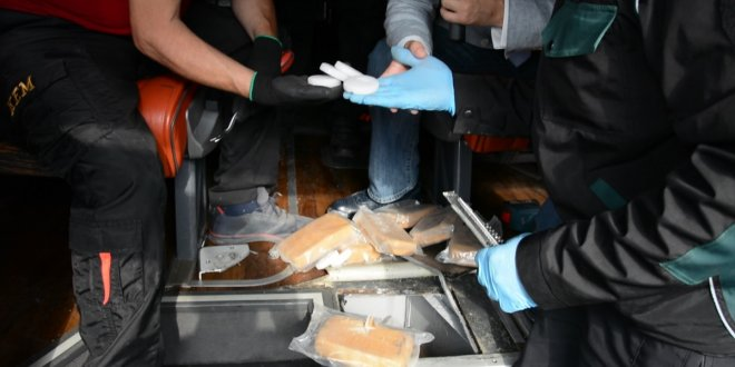 Yolcu otobüsünde 106 kilo uyuşturucu yakalandı!