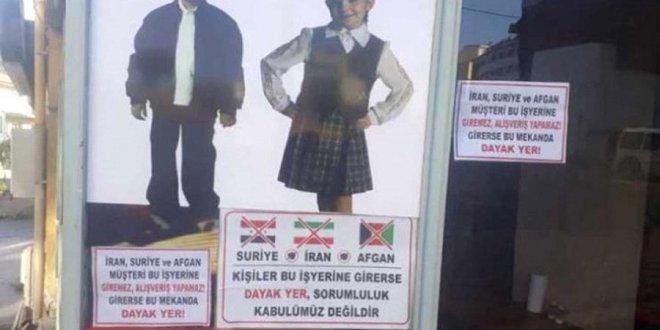 """Dükkan camına """"Afgan, Suriye ve İranlı giremez"""" yazdı"""
