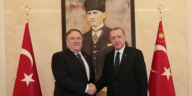Erdoğan-Pompeo görüşmesi sona erdi