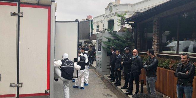 Polis ekipleri Konsolosluk konutunda