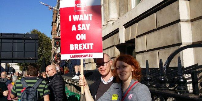Brexit karşıtları miting düzenledi