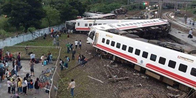Tayvan'da tren faciası