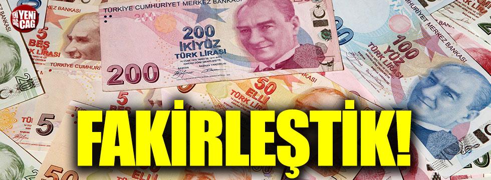 Kurdakti yükseliş Türk insanını fakirleştirdi
