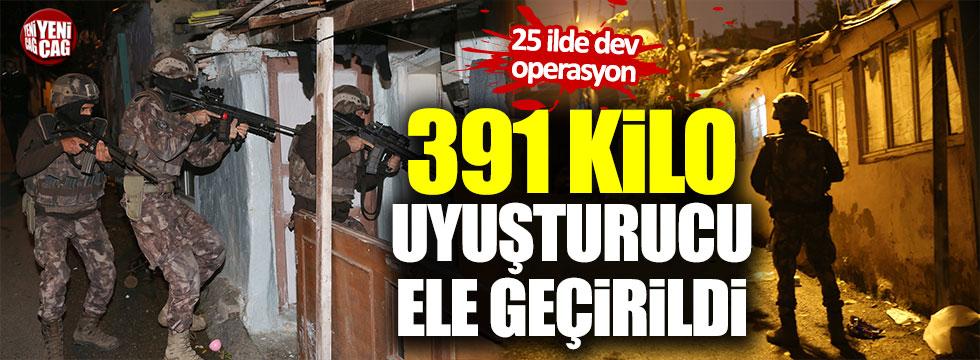 Dev operasyonda 391 kilo uyuşturucu ele geçirildi