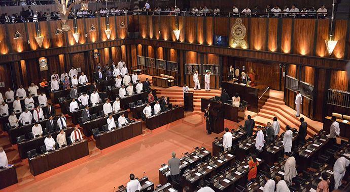Sri Lanka'da parlamentonun çalışmaları askıya alındı