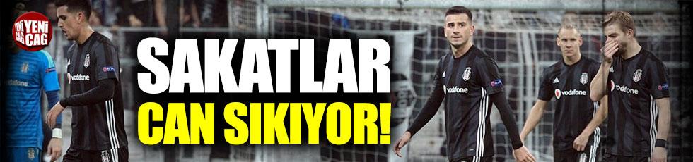 Beşiktaş'ta sakatlıklar can sıkıyor