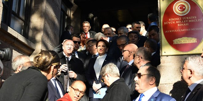 Akşener Saray'daki törene katılmadı
