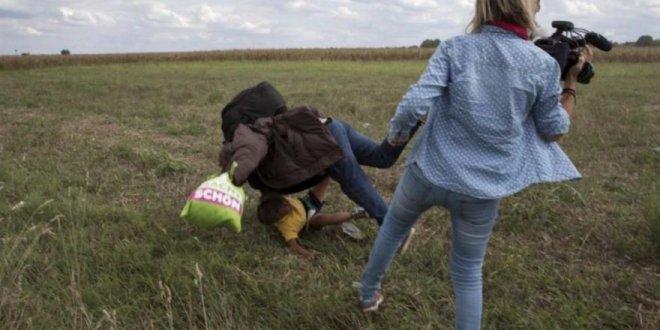 Macaristan'dan o çelmeyi takan kameraman için karar