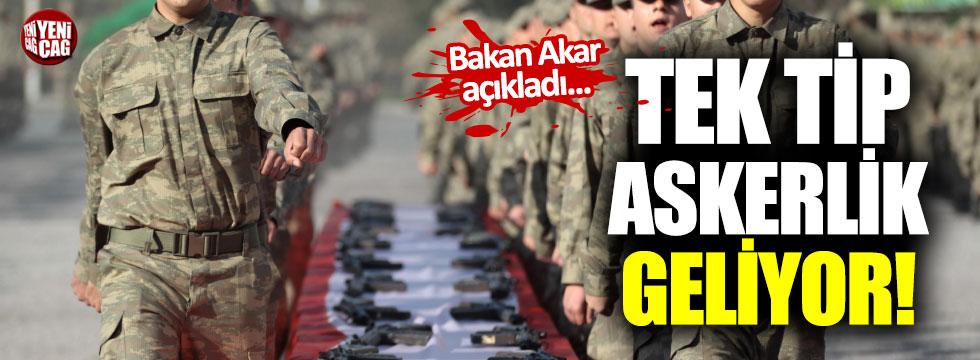 Hulusi Akar'dan tek tip askerlik açıklaması
