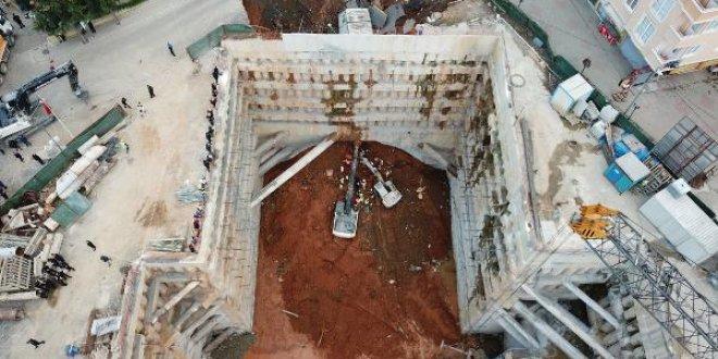 Ümraniye'de metro inşaatında göçük