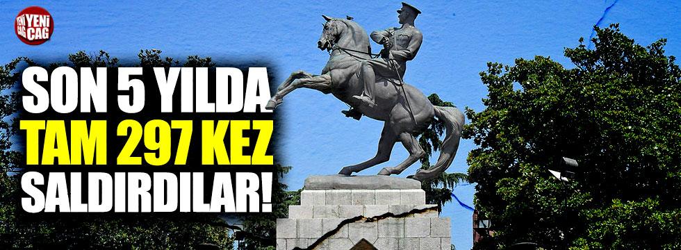 Son 5 yılda Atatürk heykellerine 297 saldırı!