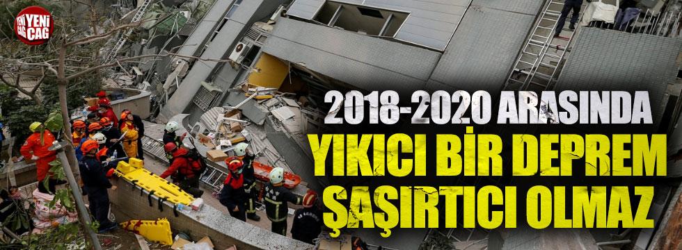 2018- 2020 arasında yıkıcı bir deprem şaşırtıcı olmaz