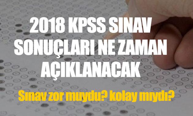 KPSS ön lisans sınav sonuçları ne zaman açıklanacak