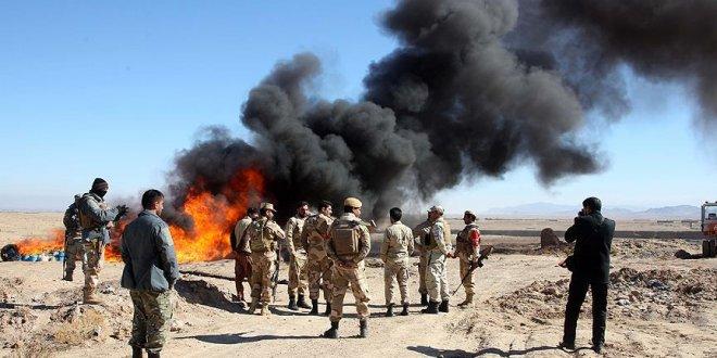 Afganistan'da 13 ton uyuşturucu imha edildi!