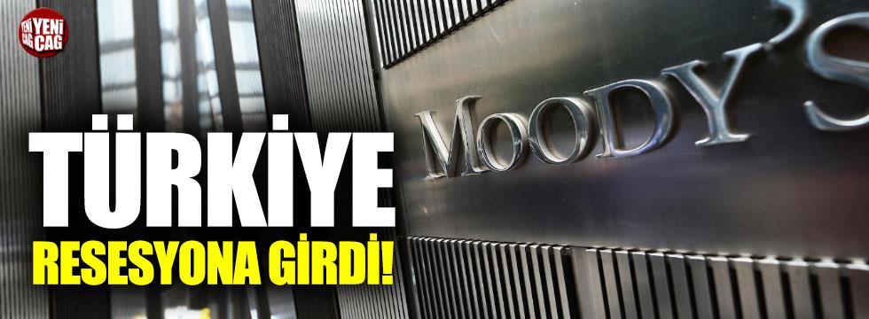 Moody's: Türkiye resesyona girdi