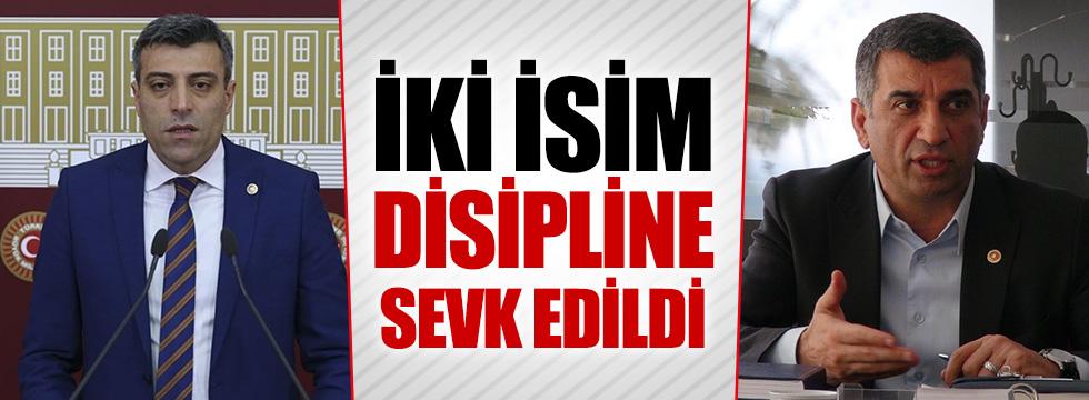 CHP'de 2 isim disipline sevk edildi