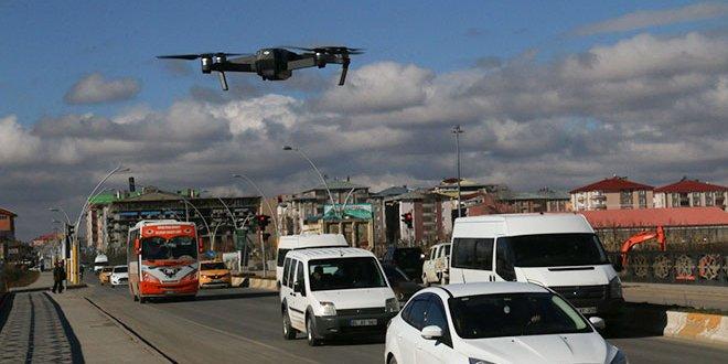 'Drone'lu denetimde sürücülere ceza yağdı