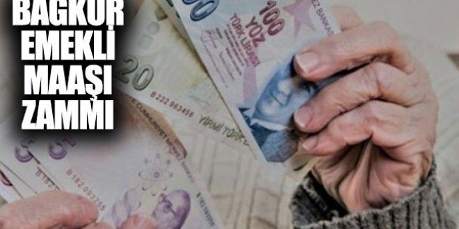 Bağkur emekli maaş zam oranı ne kadar olacak