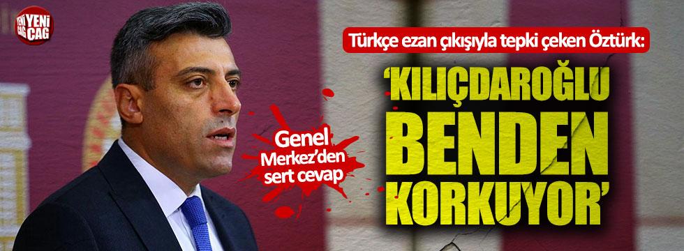 CHP'li Öztürk Yılmaz'dan çok sert açıklamalar