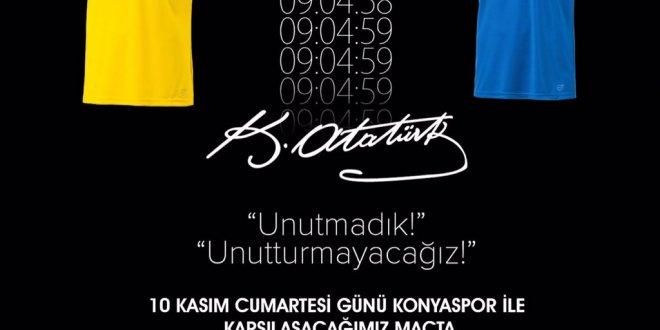 Ankaragücü ve Konyaspor'dan 10 Kasım için özel forma