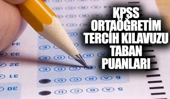 KPSS ortaöğretim tercih kılavuzu taban puanları