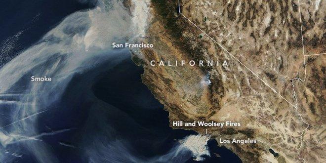 California'daki yangının fotoğrafları yayınlandı