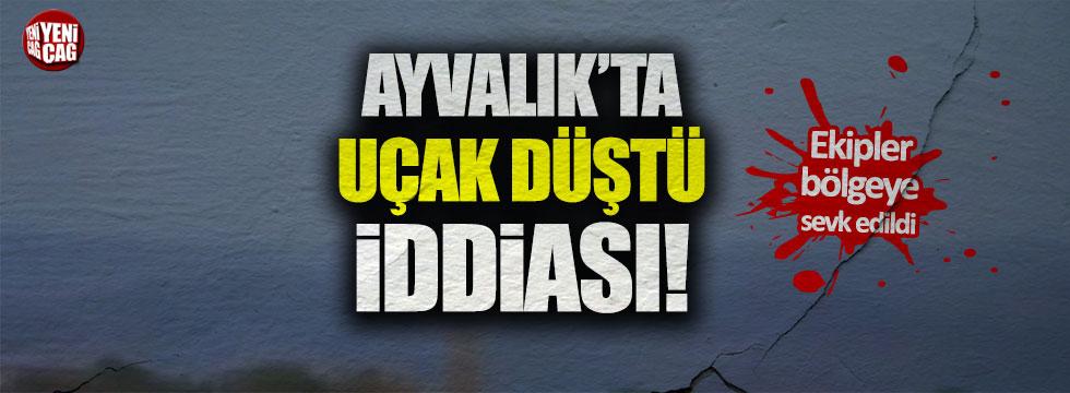 Balıkesir Ayvalık'ta 'uçak düştü' iddiası