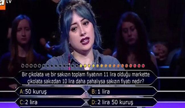 12 Kasım Kim Milyoner Olmak İster matematik sorusu