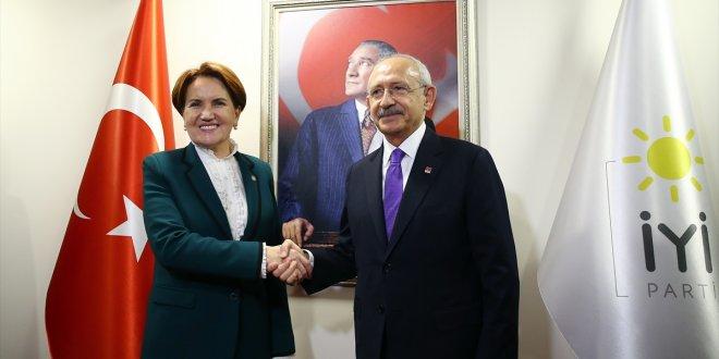 Kılıçdaroğlu- Akşener görüşmesi başladı