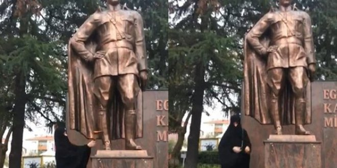 Atatürk heykeline saldırıya psikolojisi bozuk savunması