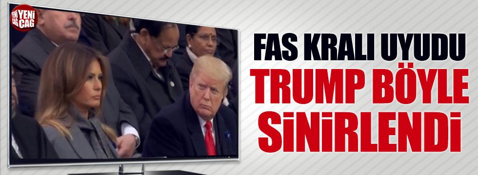 Fas Kralı uyudu, Trump böyle sinirlendi
