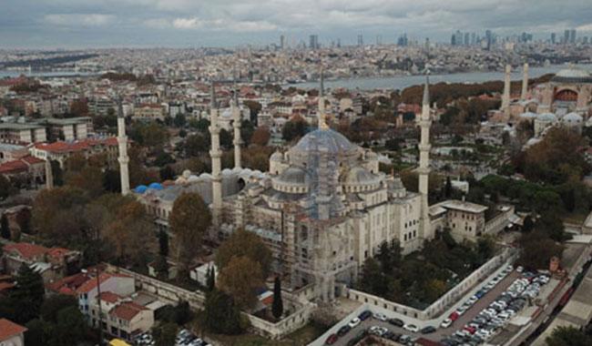 Sultanahmet Camii'nin şaşırtan görüntüsü