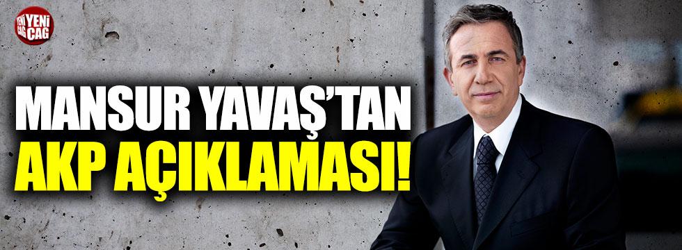Mansur Yavaş'tan AKP açıklaması