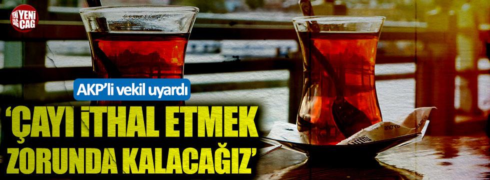 AKP'li Cemal Öztürk: Çay ithal etmek zorunda kalabiliriz