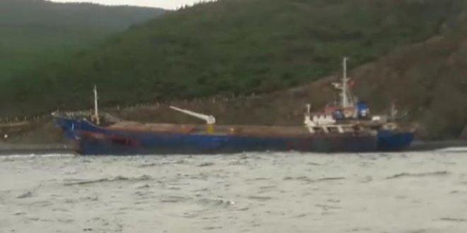 Yalova'da hacizli gemi karaya oturdu
