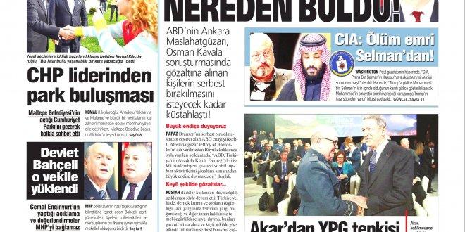 Günün Ulusal Gazete Manşetleri - 18 11 2018