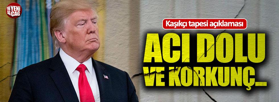 Trump'tan 'Kaşıkçı tapesi' açıklaması