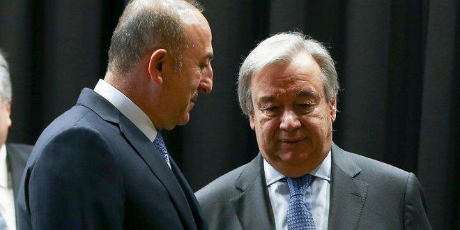 Çavuşoğlu, Guterres'le görüştü