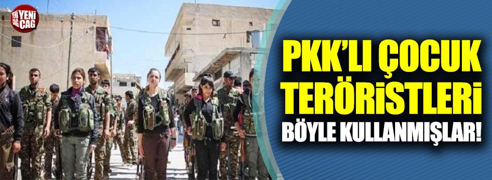 PKK çocuk teröristleri böyle kullanmış