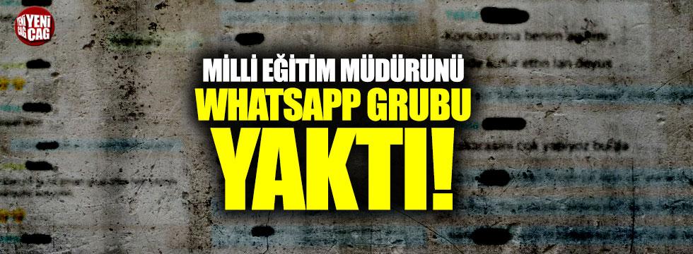 WhatsApp grubu müdürünü yaktı