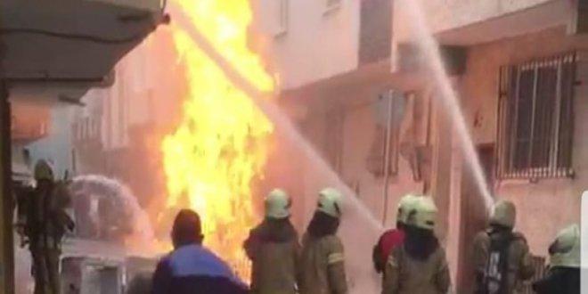 Bağcılar'da doğalgaz borusunda patlama