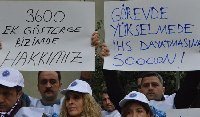 PTT Taşeron işçilerinden eylem