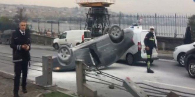 Unkapanı Atatürk Köprüsü'nde kaza!