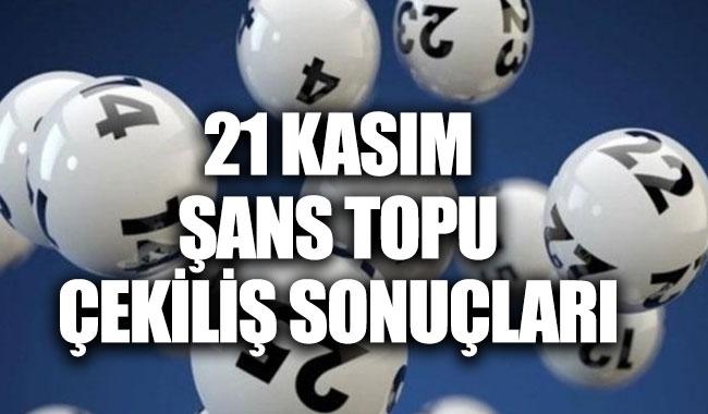 Şans Topu Çekiliş sonuçları MPİ 21 Kasım 2018