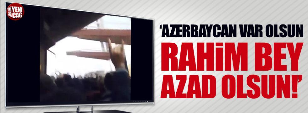 Güney Azerbaycan'da Rahim Cavadbeyli protestosu
